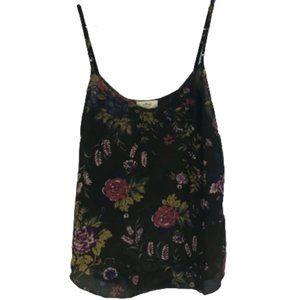 2/$20 Aritzia Wilfred 100% Silk Camisole Floral S